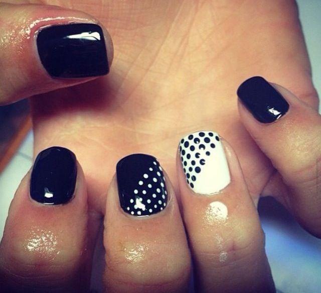 Black And White Nails Nail Art Pinterest White Nails Black