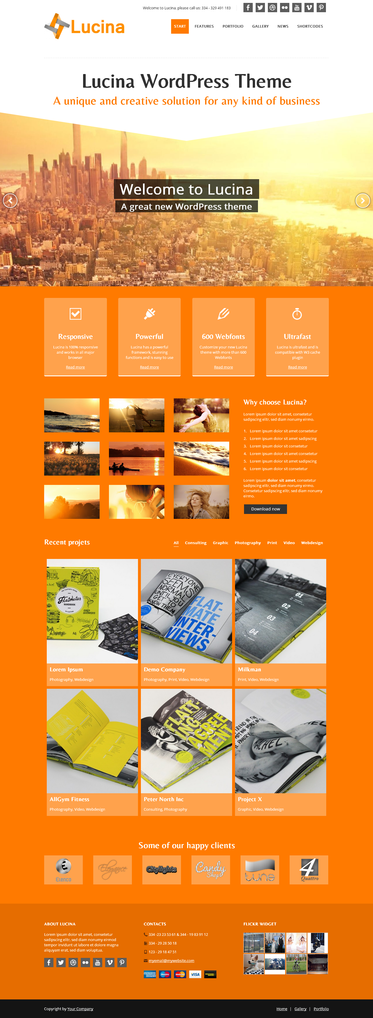 Lucina - Creative Business Theme by 7Theme on Creative Market