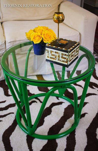 Emerald Bamboo Table {by: Phoenix Restoration} | MANUALIDADES ...