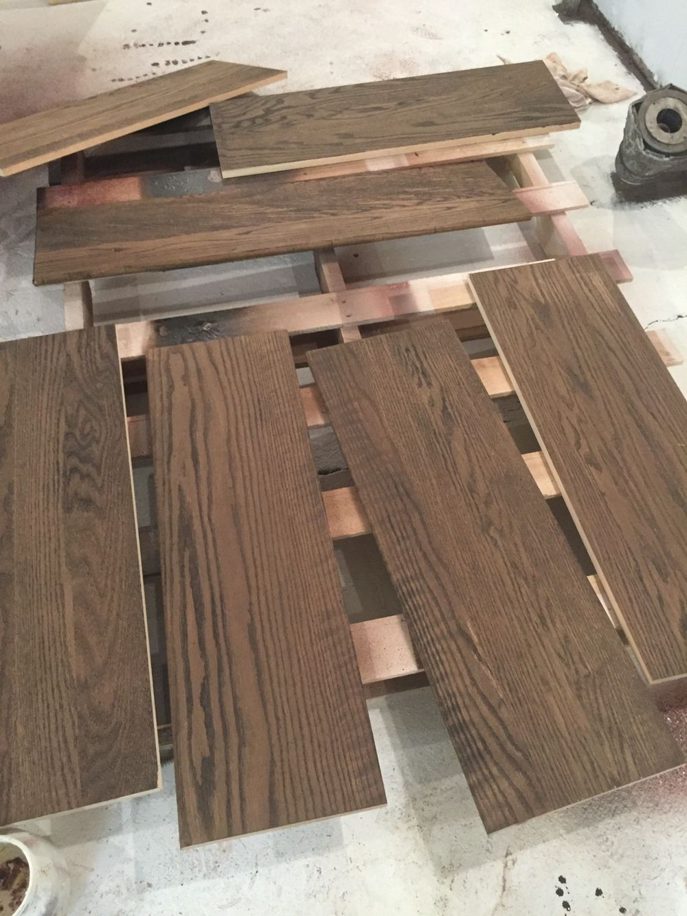 Best Custom Built Red Oak Stair Treads Made And Later Installed 640 x 480
