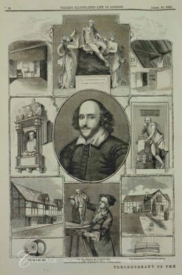 Shakespeare and London - COLLAGE - The London Picture Archive