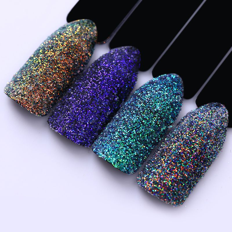 Laser Transparent Nail Glitter Holographic Paillettes Colorful ...