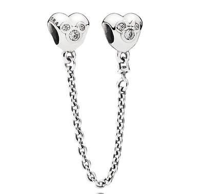 d3d8264f7 Charms 134299: 925Ale Authentic Pandora New Disney Heart Of Mickey Safty  Chain 791704Cz -> BUY IT NOW ONLY: $33 on eBay!