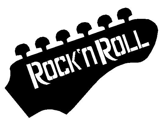 Free Rock N Roll Coloring Pages : Rock n roll guitar head clipart panda free images