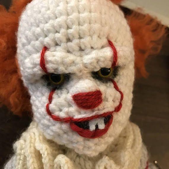 Pdf Creepy Clown Doll Crochet Amigurumi Pattern Amigurumi Doll