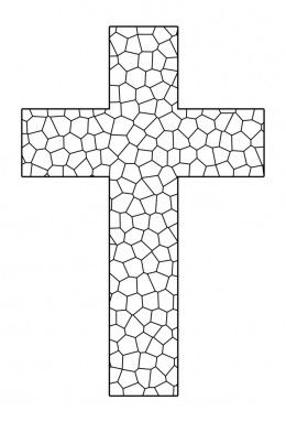 Free Printable Cross Coloring Pages Cross Coloring Page Cross Printable Stain Glass Cross