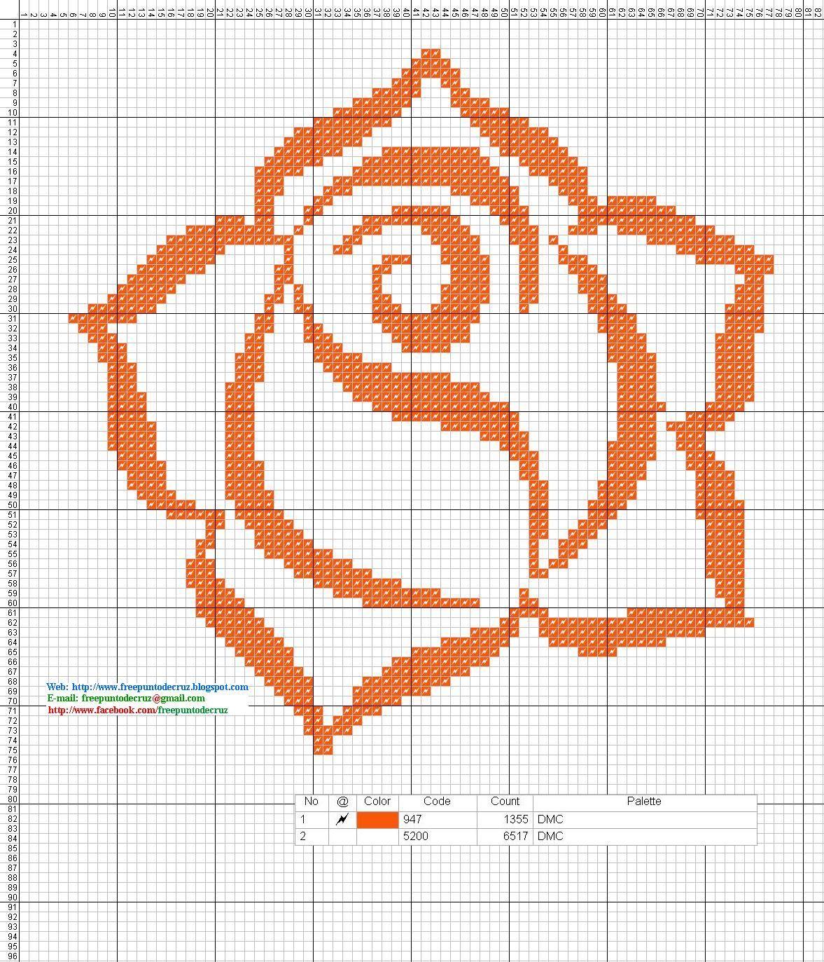 Gráficos en patrones punto de crúz para bordar gratis. | servilletas ...