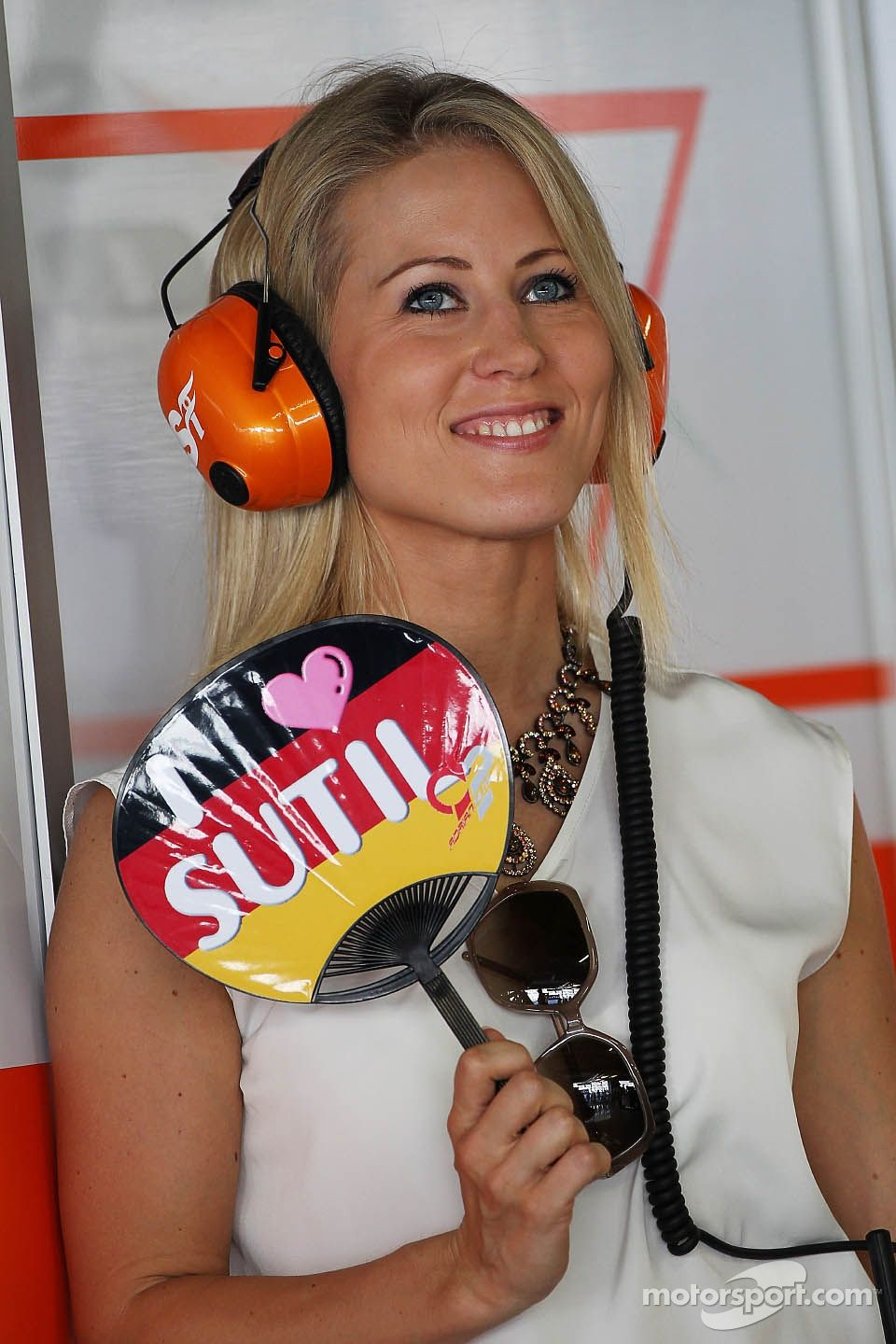 Jennifer Becks Girlfriend Of Adrian Sutil Sahara Force India F1