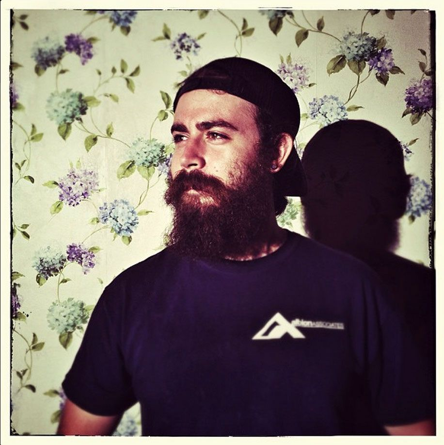 Question: Whats more manly than a beard and a floral pattern?    Answer: Nothing.