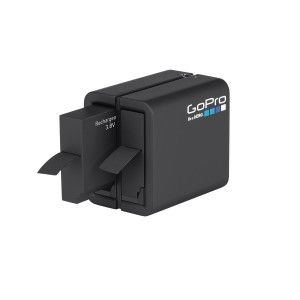 The GoPro HERO4 Dual Battery Charger conveniently Charge your HERO4 camera batteries with the Dual Battery Charger, the only GoPro charger that allows you to charge two batteries simultaneously. Featuring USB compatibility, you can power it with most standard USB chargers, the GoPro Wall or Auto Charger, or a computer. Dual LED indicator lights display the charging status, so you know when your batteries are ready for action. Includes a spare 1160mAh Lithium-ion rechargeable battery for your…