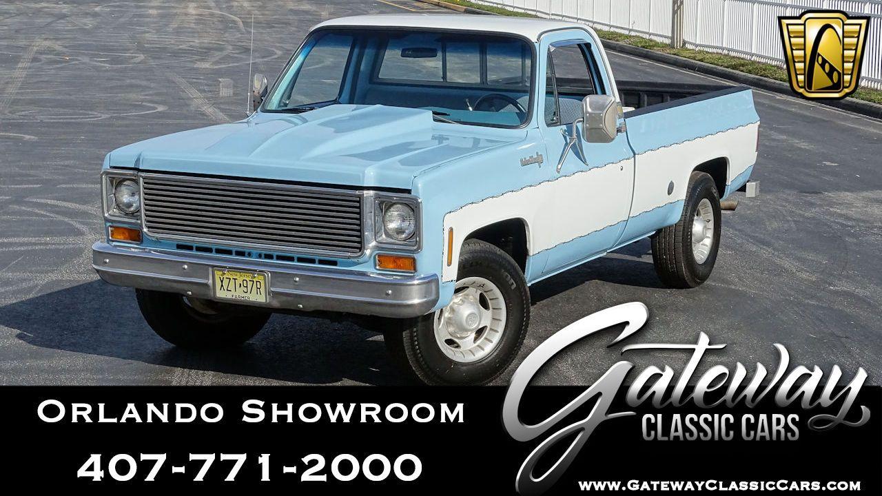 For Sale White Blue 1974 Chevrolet C20 Custom Deluxe Camper