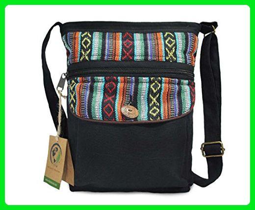 70a2d3f5c0 Mato Boho Crossbody Bag Zipper Shoulder Side Purse Bohemian Woven Tribal  Aztec Pattern Black - Crossbody bags ( Amazon Partner-Link)