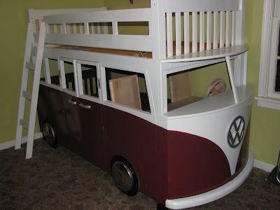 Etagenbett Bus Gebraucht : Vw bus bed linnea kinder bett diy kinderzimmer und zimmer