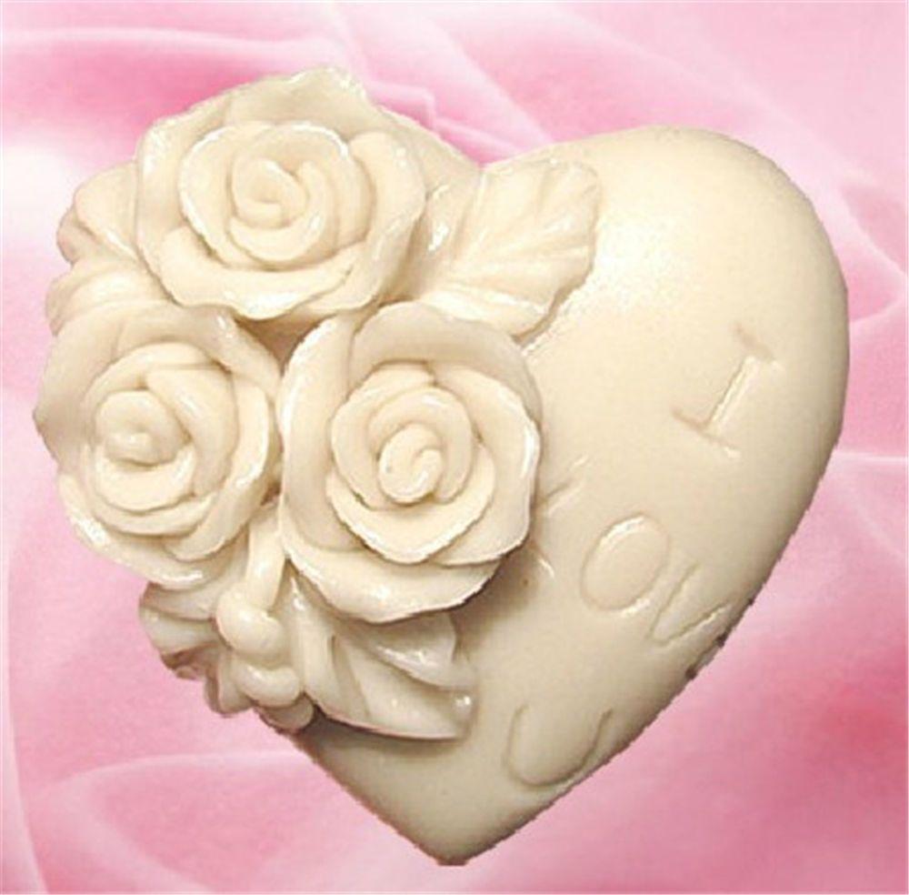 gbp love rose soap silicone cake mould fondant sugar craft