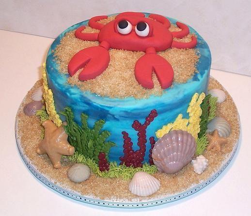 Salmon Birthday Cake: Devil's Food Chocolate With Chocolate