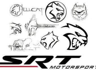 Dodge SRT Motorsports HELLCAT Sketches T-SHIRT viper hemi