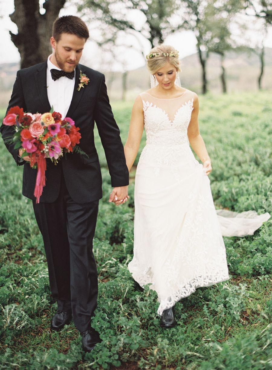 Colorful boho glam texas hill country wedding pinterest texas
