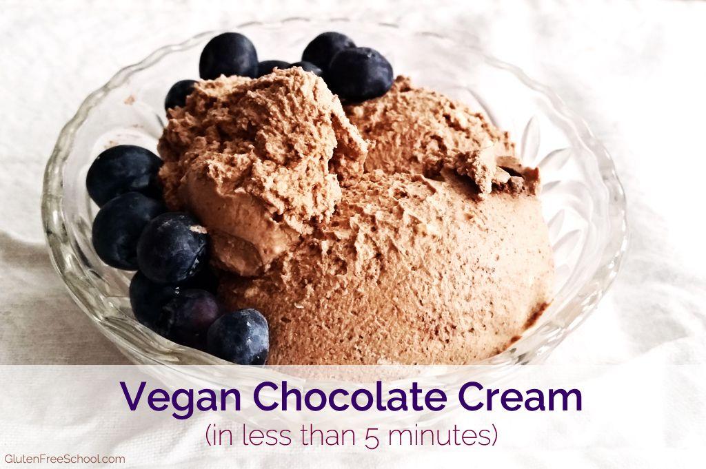 Vegan Chocolate Cream (in less than 5 minutes)