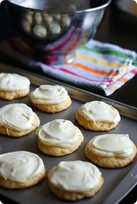 Meyer Lemon-Brown Butter Cookies (with lemon cream cheese frosting)