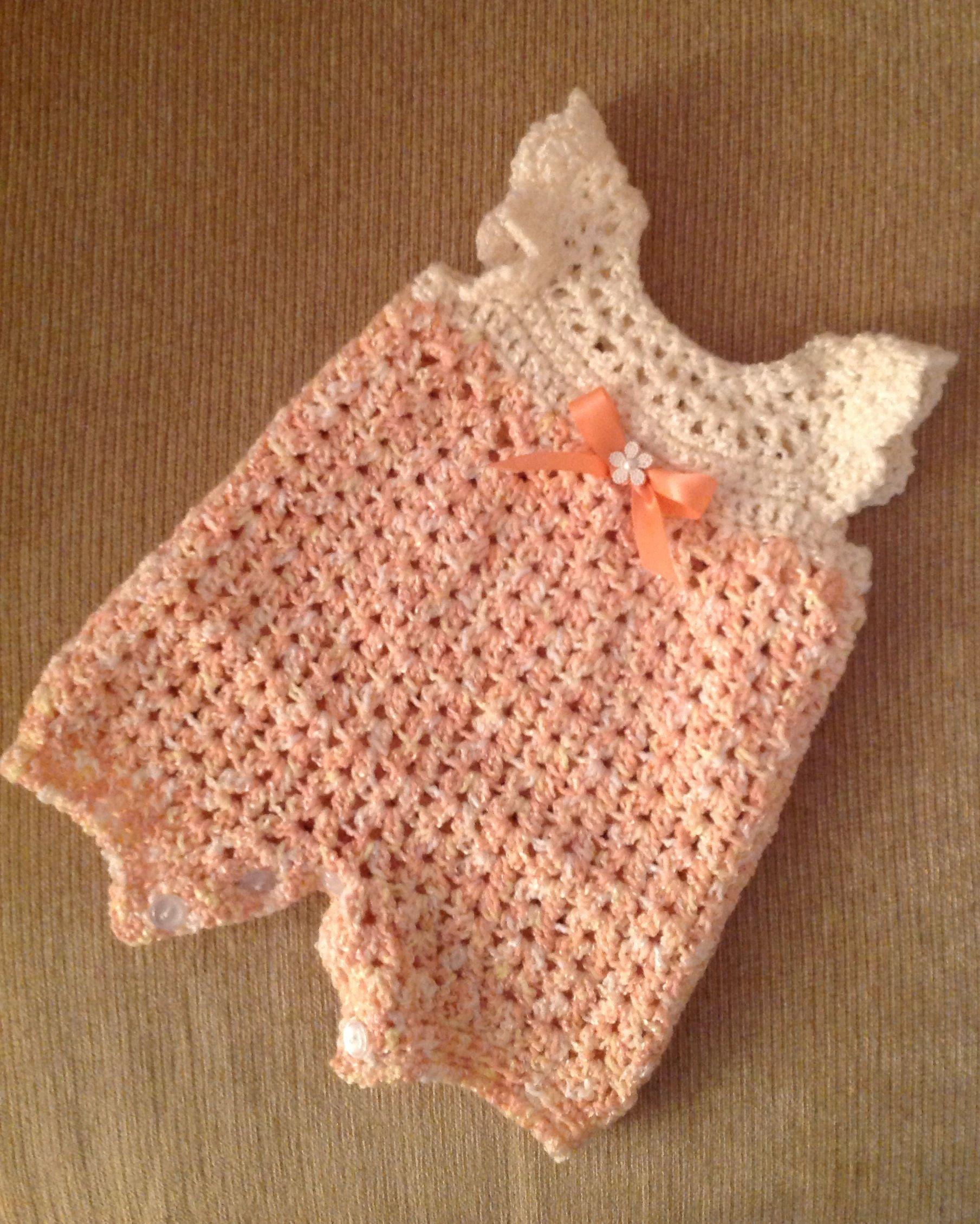 Crochet infant romper | Hækle / strik til baby blandet