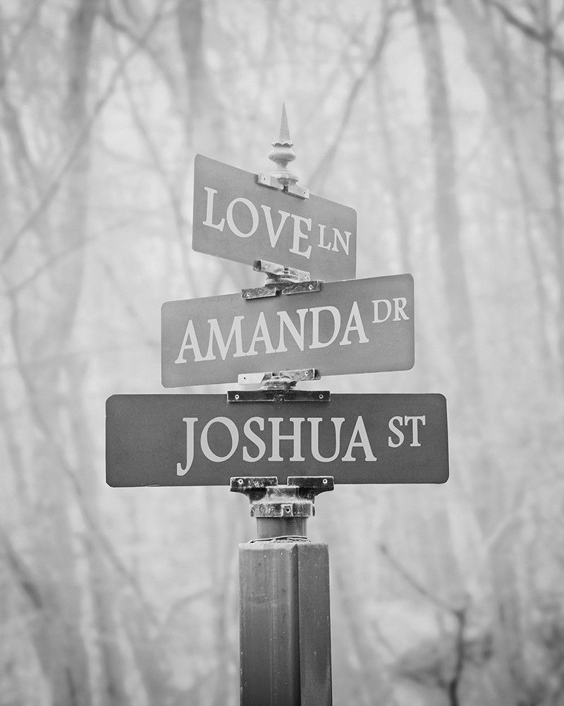 Personalized street signs wall art gift