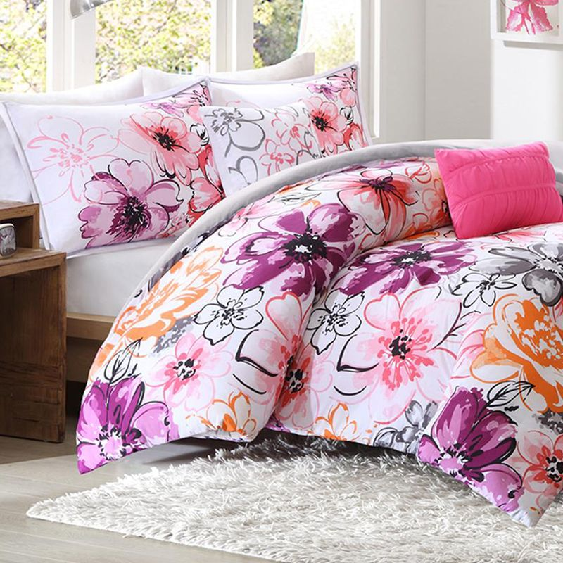 Olivia Twin Xl Comforter Set Pink For Students Living In Dorm Rooms Or Apartments At College Boarding School On Campus Off