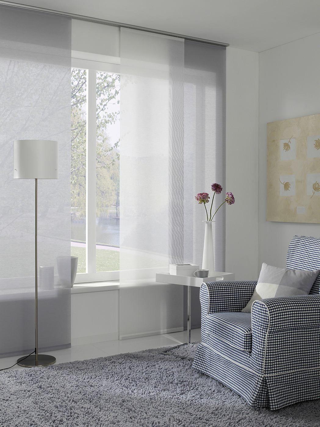 schiebegardine, gardinia, »entry«, mit klettband, mit weißem, Schlafzimmer entwurf