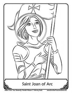 St Joan Of Arc Coloring Page Saint Joan Of Arc Catholic