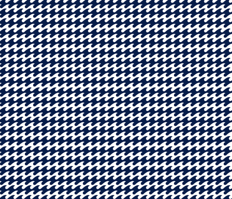 watery Navy houndstooth - Color Update fabric by emysue2005 on Spoonflower - custom fabric