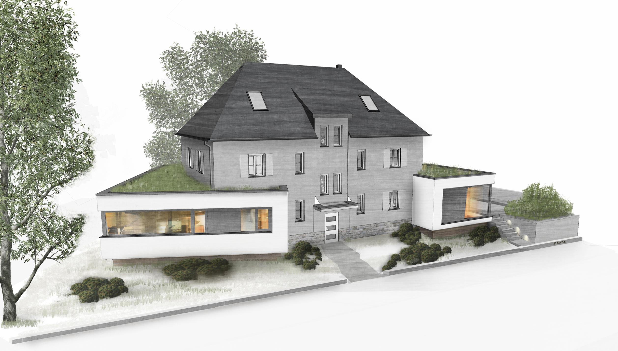 Entwurf wohnhaus leipzig koloriert innenarchitektur for Innenarchitektur leipzig