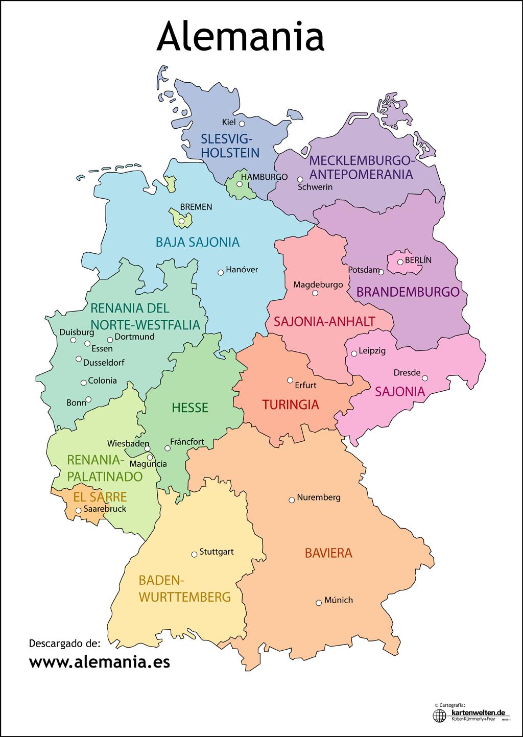 Mapa Politico De Alemania Actual.Imagen Relacionada Munich Alemania Alemania Y Hamburgo