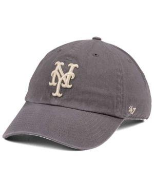 huge selection of 620ee f596a  47 Brand New York Mets Dark Gray Clean Up Cap - Gray Adjustable