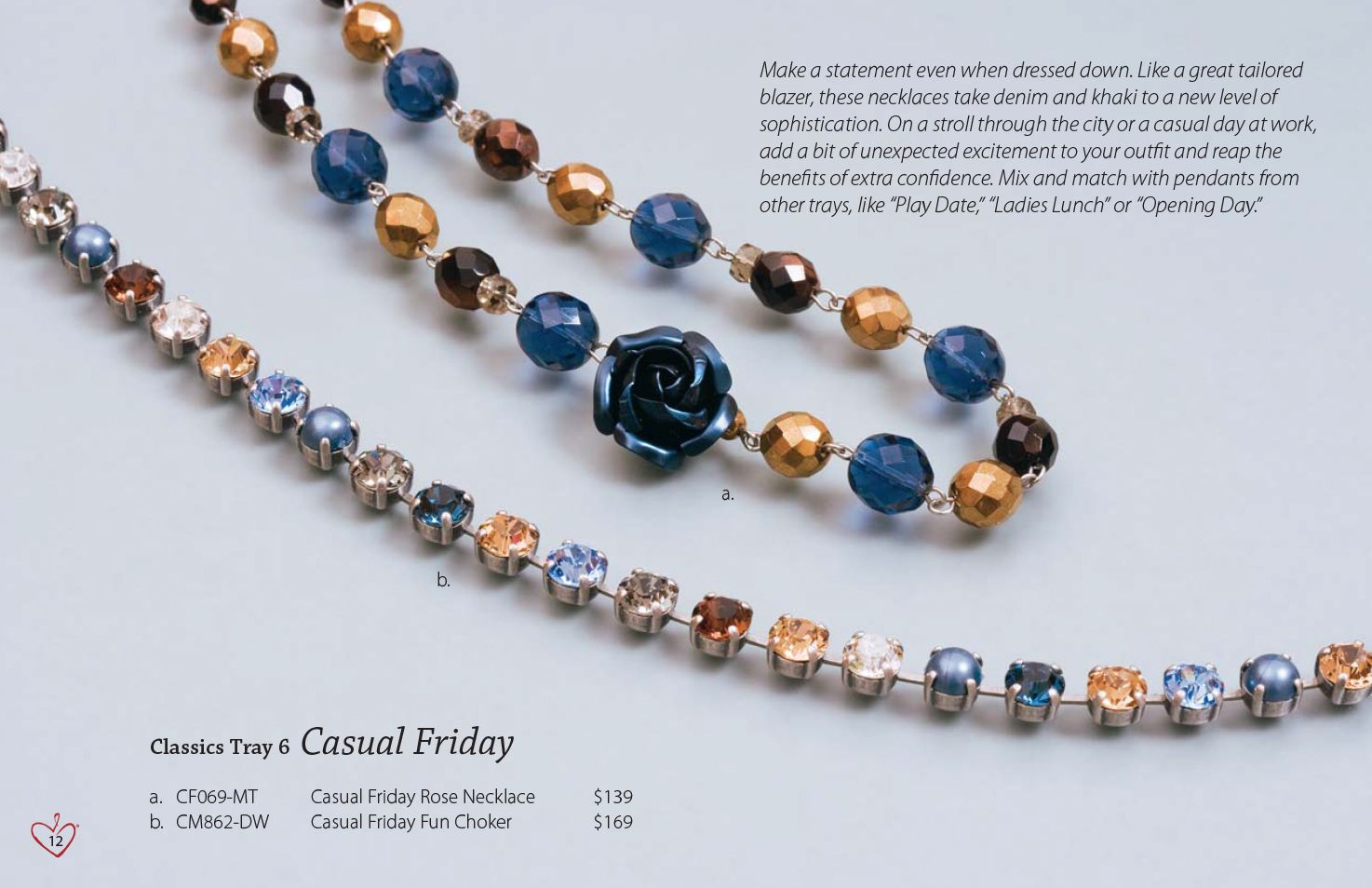 Sabika Look Necklace - Sabika classics collection tray 6 casual friday