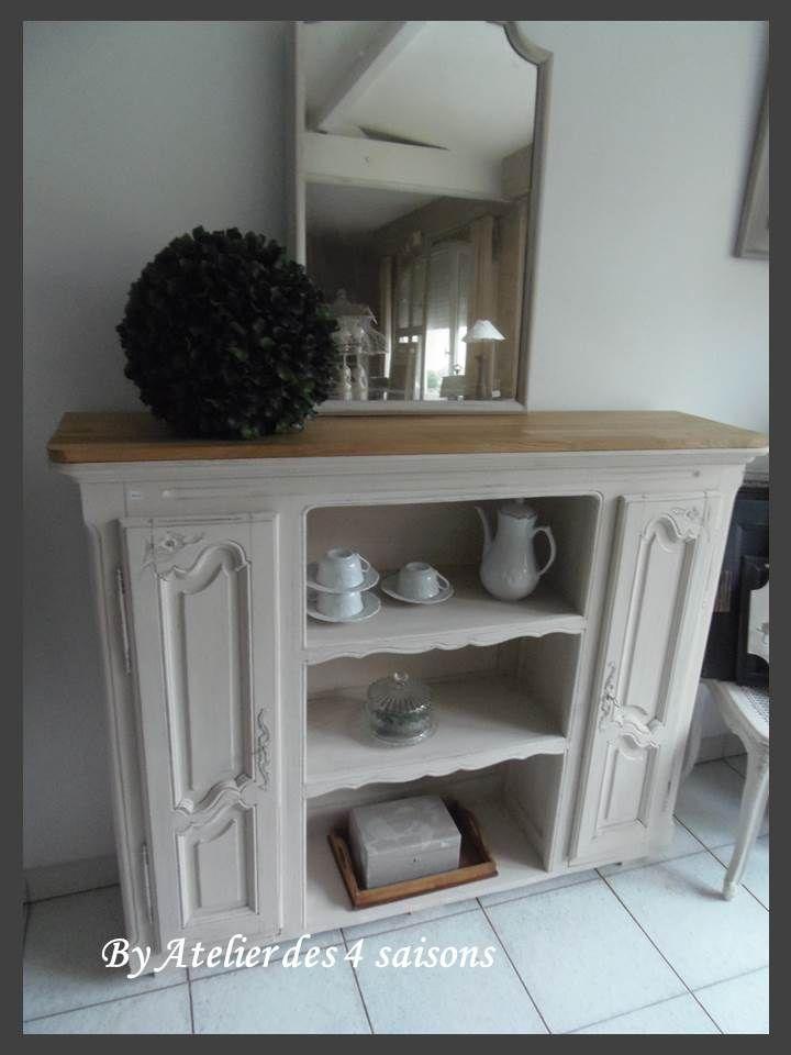 meuble ancien revisit relook transform patin s dans style maison de famille par l. Black Bedroom Furniture Sets. Home Design Ideas