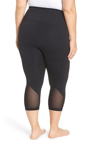d504fa07b5ccf6 Free shipping and returns on Zella 'Hatha' High Waist Crop Leggings (Plus  Size) at Nordstrom.com. A high waistband and smooth flatlock seams ensure a  ...