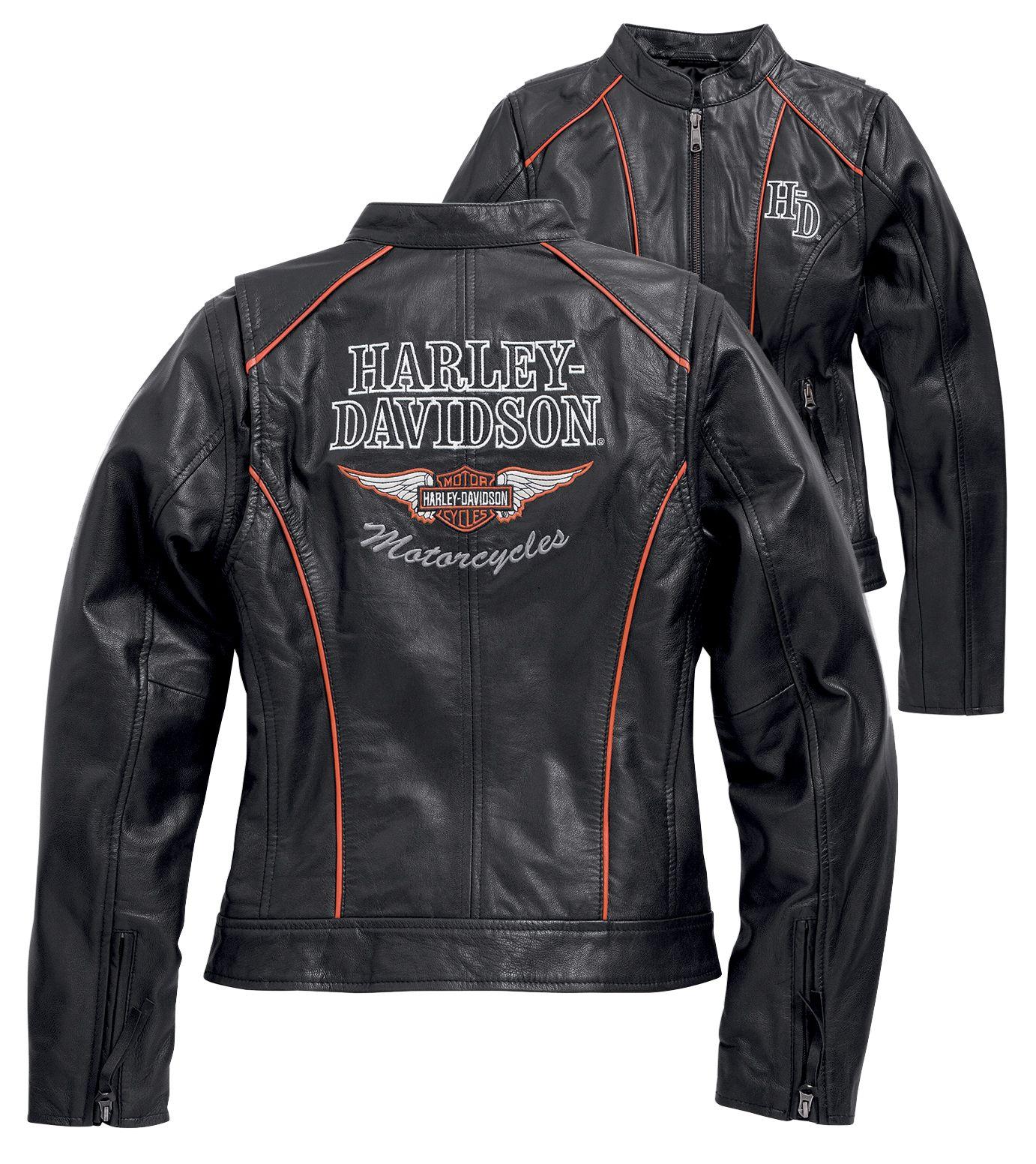 Harley Davidson Lederjacke Victory Lane: : Bekleidung