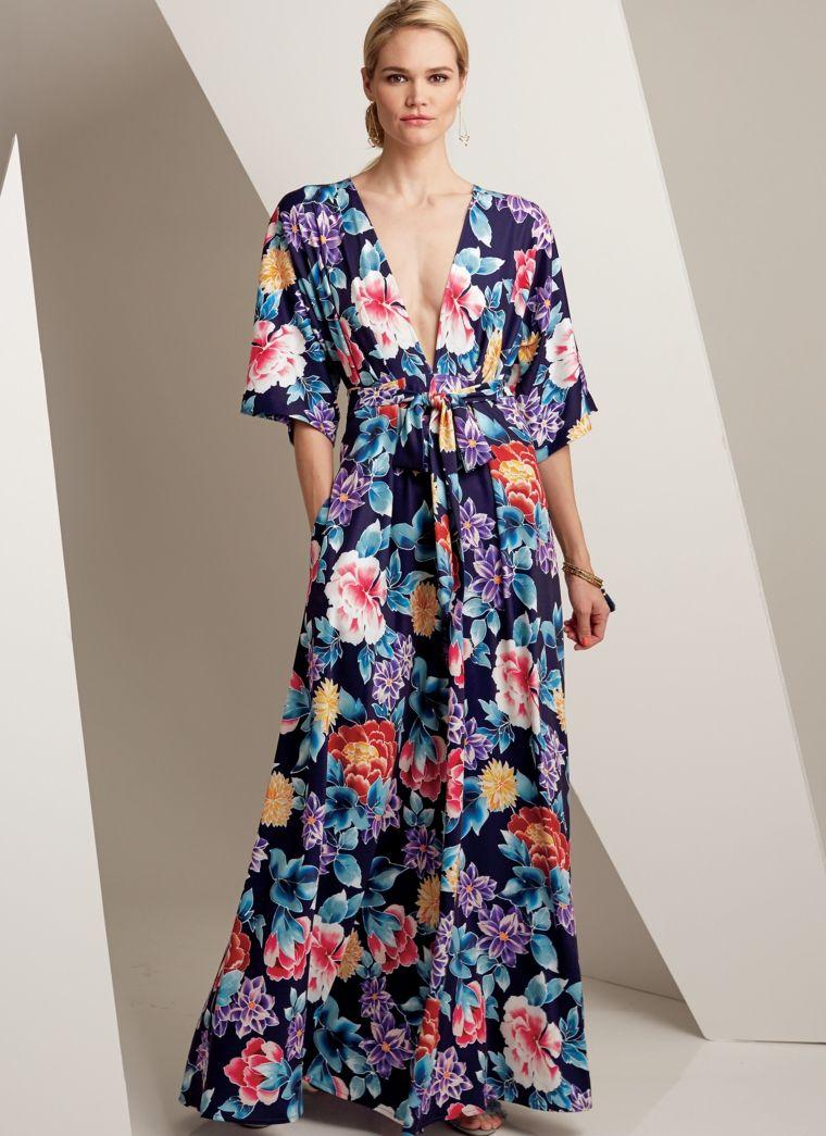 best website 9ae4e 5e748 Vestiti lunghi estivi con stampa floreale, abito elegante ...