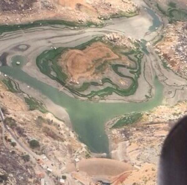 Folha certa : Açude Gargalheiras se encontra praticamente seco