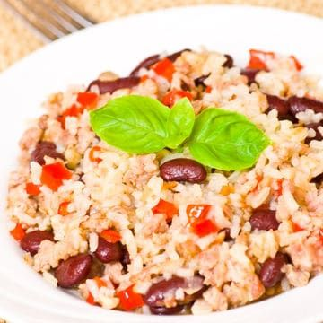 Risotto With Ground Turkey Red Peppers And Kidney Beans