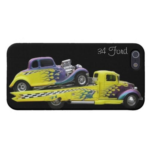 1934 Ford Coupe Street Rod Flames iPhone 5/5s Case