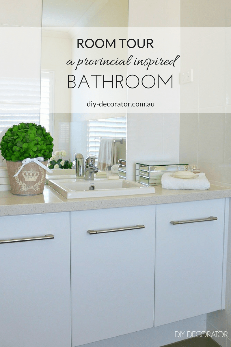 Room Tour - Provincial Bathroom | Room tour, White shutters and ...