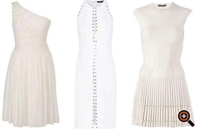 Kleid weiß gold & silber - Cocktailkleider, Abendkleider ...