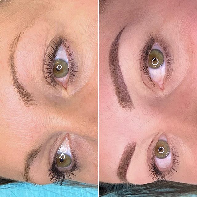 Ombré shading is the newest trend in eyebrow semi-permanent makeup. It gives a …, #Eyebrow… – Permanent makeup eyebrows