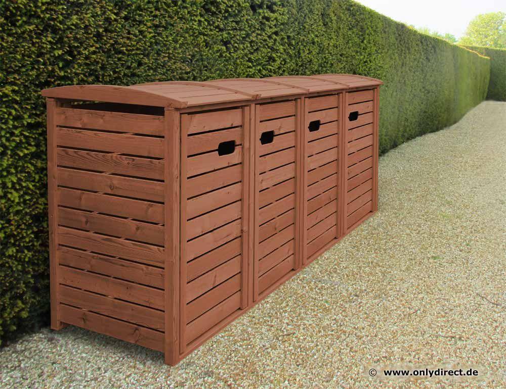 2er 3er 4er 5er m lltonnenbox aus asiatischer zeder 120 240 liter m lltonnen. Black Bedroom Furniture Sets. Home Design Ideas
