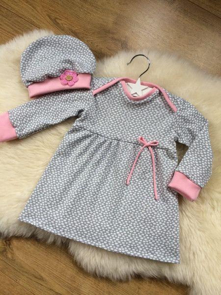 Kleider – ♥ Babykleid/Mützchen Gr.68 ♥ – ein Designerstück von Creative-Ha…