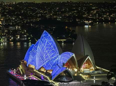 Sydney Opera House on UN Day 10/24