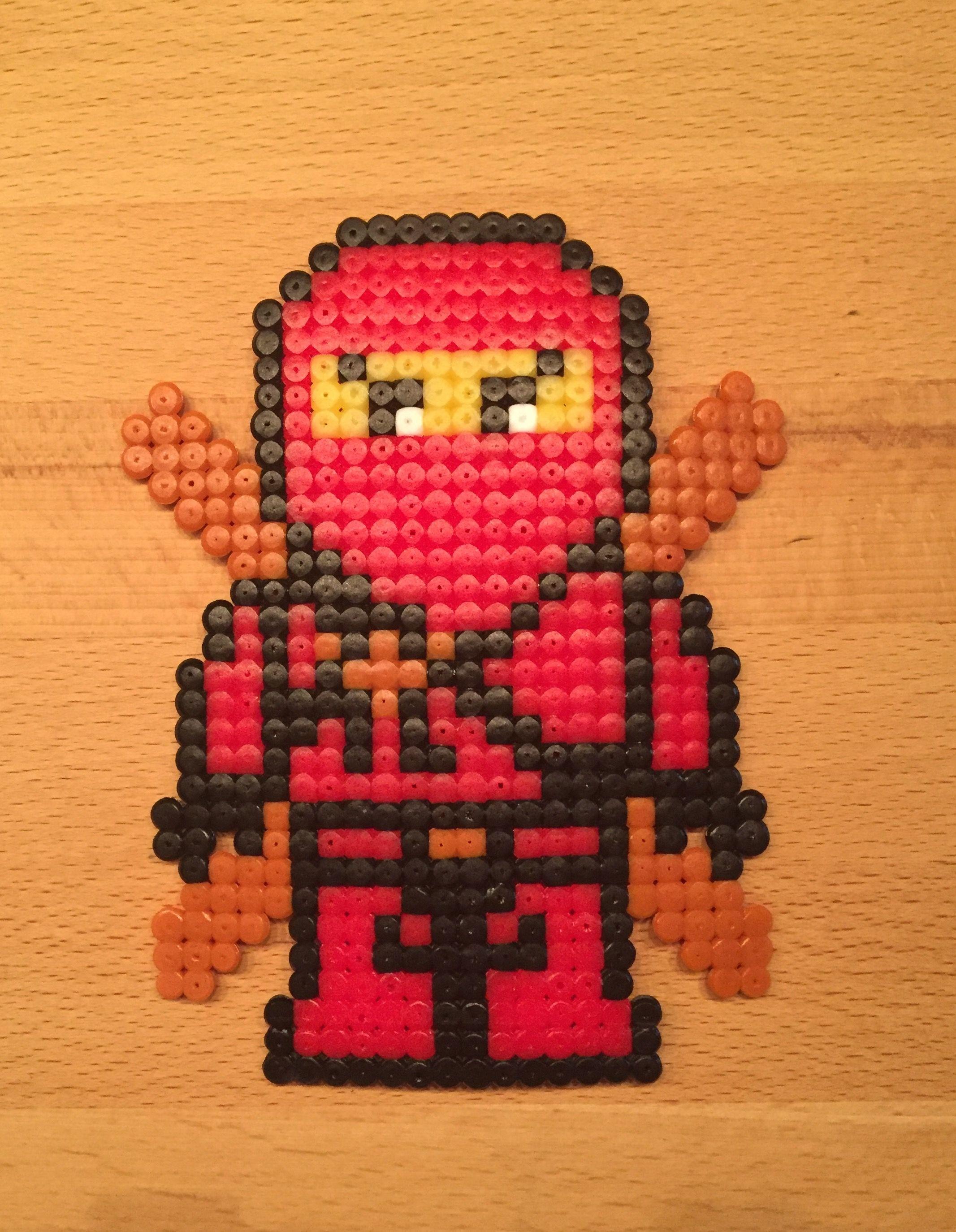 Ninjago Kai Aus Bugelperlen Minecraft Bugel Bugelperlen Und