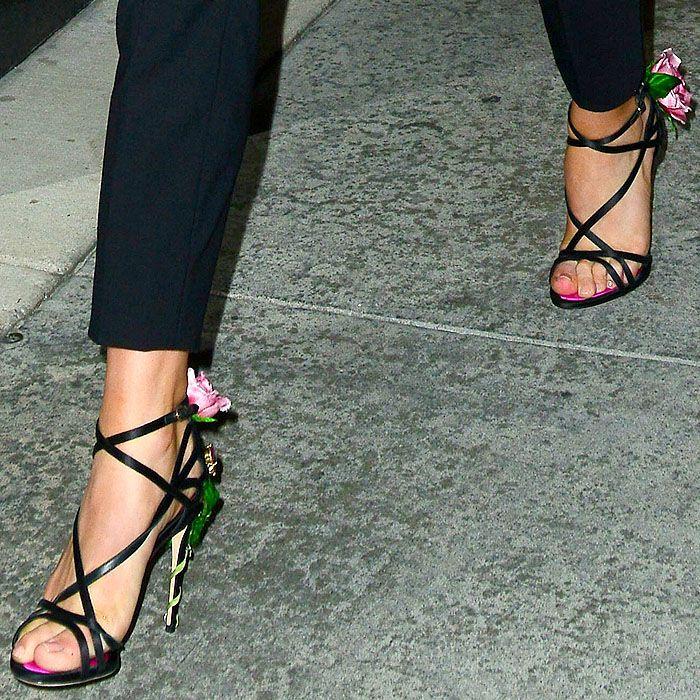 Dolce & Gabbana Keira Quadrillent Sandales - Noir xLhMxC