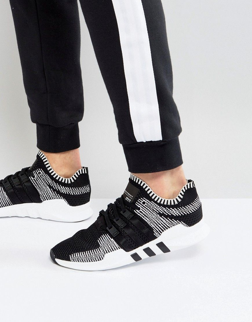 075d4cf16be5 ADIDAS ORIGINALS EQT SUPPORT ADV PRIMEKNIT SNEAKERS IN BLACK BY9390 -  BLACK.  adidasoriginals  shoes