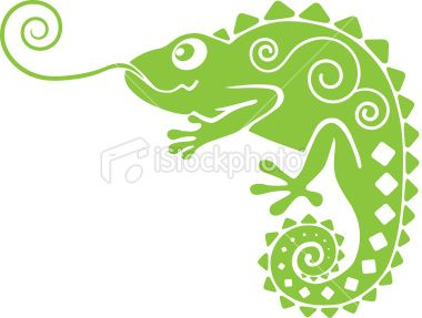 Green Chameleon Chameleons Vector Art And Art Illustrations - Someone gave their chameleon a miniature sword to hold and now everyones joining in